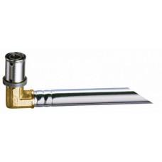 Пресс-уголок 20х2 с хром.труб.(l = 24 см, 15мм) д..