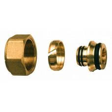 Концовка для м/п труб 25х2,5 с накидной гайкой м33х1,5