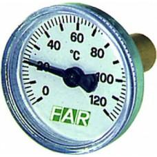 Термометр 0-120°c, зонд 36 мм,o 40 мм, торцевое со..